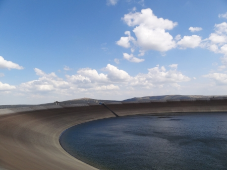 Upper Reservoir of the Pumped-storage Hydro Power Plant Dlouhe Strane, Czech Republic photo
