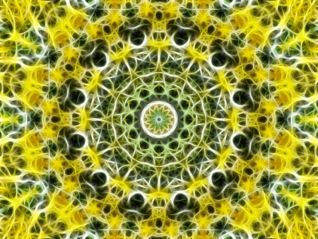Glowing Yellow Mandala photo