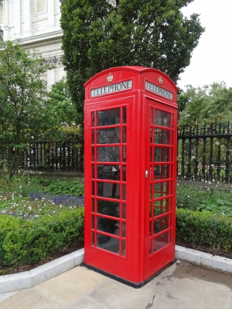 Typical Red London Telephone Booth photo