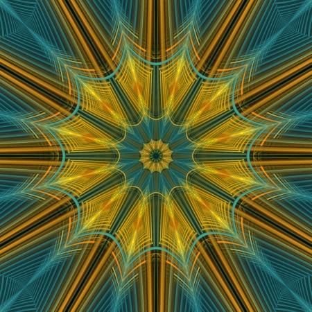 kaleidoscopic: Yellow and Blue Star