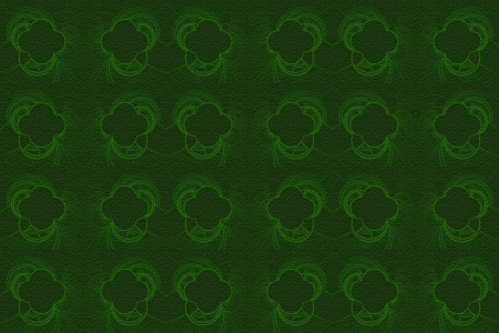 Green Grunge Background with Quatrefoil Pattern