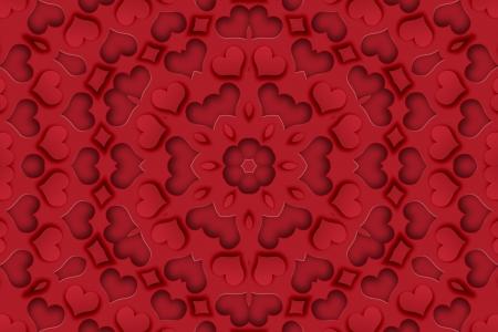 Heart Mandala Background Stock Photo - 17016976