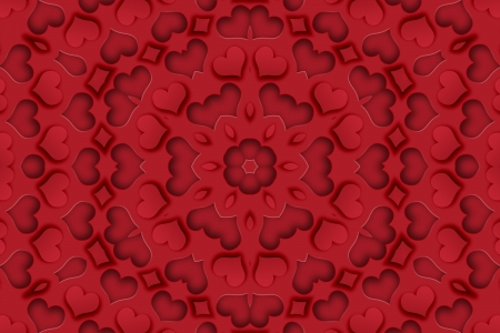 Heart Mandala Background Stock Photo - 17016976