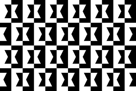 Geometric Black and White Background - seamless Stock Photo - 17167863