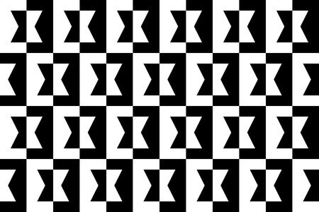 Geometric Black and White Background - seamless Stock Photo - 17167863