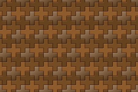 interlocking: Brown Interlocking Crosses - seamless pattern