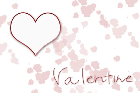 Valentine Background with Heart Stock Photo