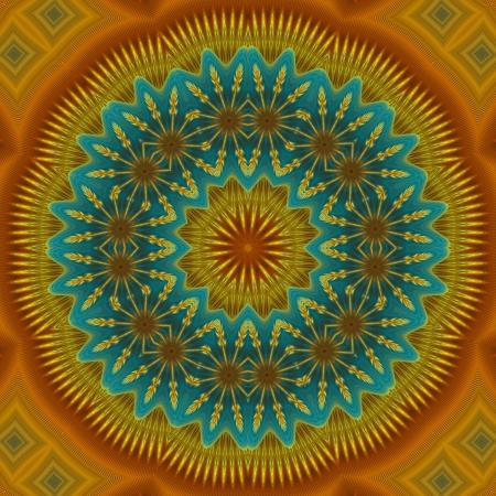 kaleidoscopic: Round Mandala Background