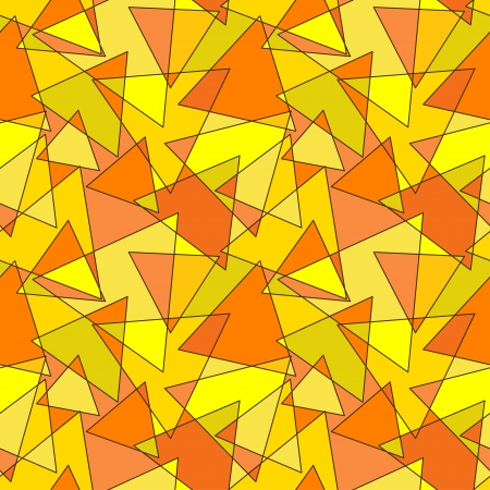 Yellow and Orange Background with Geometric Pattern Vector