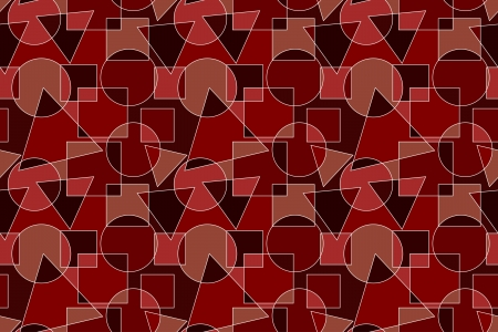 Red and Brown Background with Geometric Pattern Stock Photo - 18564258