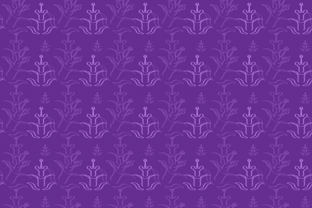 Seamless Purple Background with Floral Pattern photo