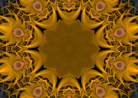Yellow Mandala Star photo
