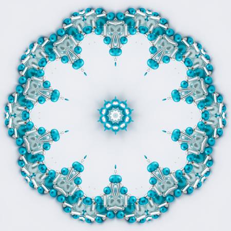 mandala: Turquoise mandala flower Stock Photo