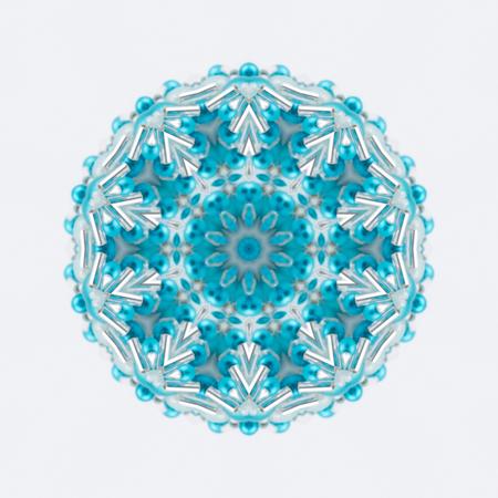 azul turqueza: copo de nieve Mandala de la turquesa