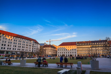 plazas: Buildings at Munich, Germany
