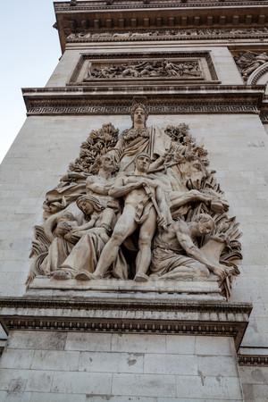triomphe: Paris Arc de Triomphe Stock Photo