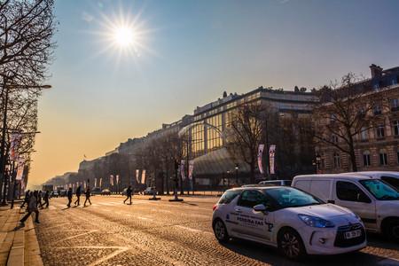 elysees: Champs Elysees in Paris Editorial