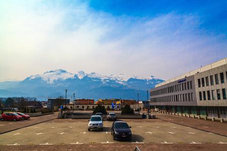 car lots: Street at Vaduz