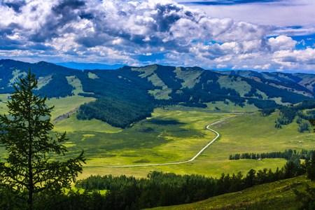 Kanas lake landscape photo