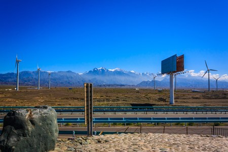 xinjiang: Dabancheng wind power plant Banque d'images