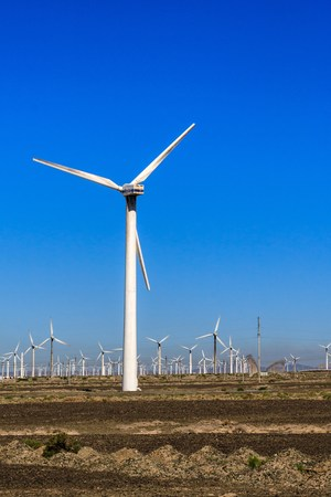 xinjiang: Dabancheng usine de l'énergie éolienne