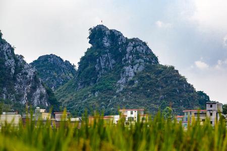 bucolic: China Guangdong Fengkai mountain scenery Stock Photo