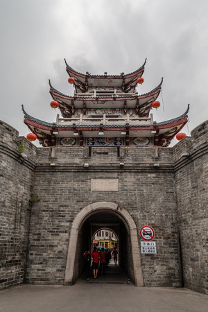 ancient pass: China Guangdong Chaozhou Song Ming Dynasty City Wall Stock Photo