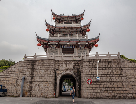 song dynasty: China Guangdong Chaozhou Song Ming Dynasty City Wall Editorial