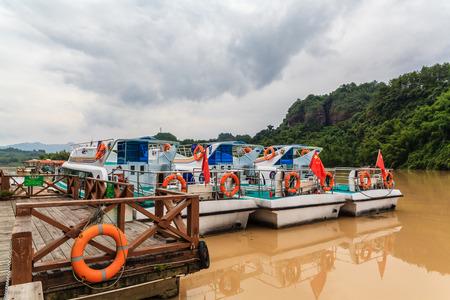 redstone: Danxia Danxia landscape on boat
