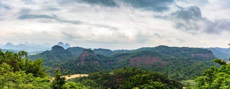 redstone: Danxia Mountain Nature scenery Stock Photo