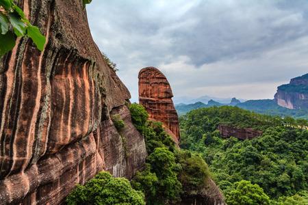 yuan yang: Danxia Mountain cliffs