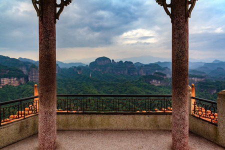 sunrise mountain: Danxia Mountain Sunrise Pavilion