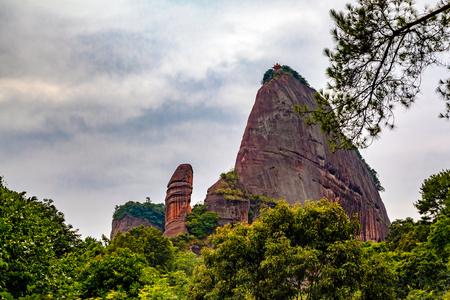 yuan yang: Danxia mountain Stock Photo