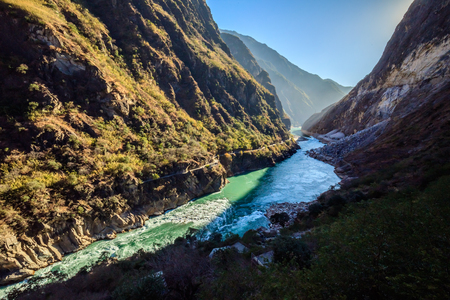 gorge: Shangri-La in Yunnan Tiger Leaping Gorge Editorial