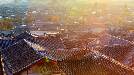 yunnan: Lijiang, Yunnan sunrise panorama