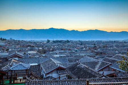 Roof top view of Lijiang
