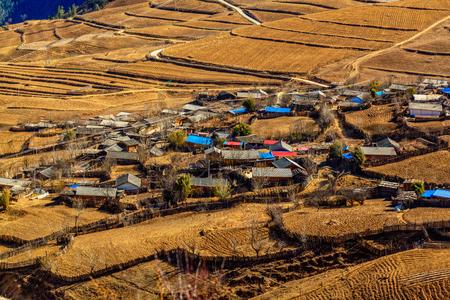 yunnan: Yunnan Qiao Yi tribe village Stock Photo
