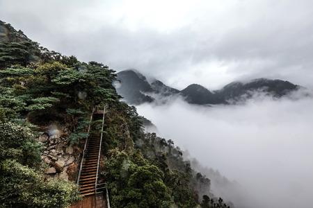 Hunan Mangshan Jiangjunzhai landscape view