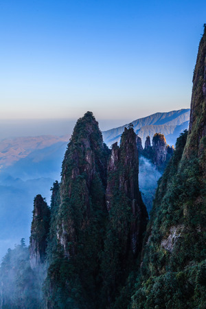 hunan: Hunan Mangshan Tiantai Mountain Stock Photo