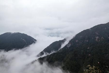 mang: Hunan Mangshan Jiangjunzhai landscape view