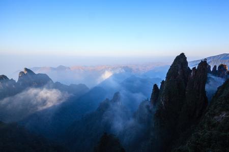 hunan: Hunan Mangshan Tiantai Mountain Stock Photo