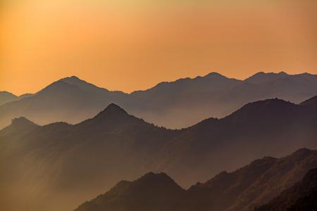 mang: Hunan Mangshan Tiantai Mountain landscape view