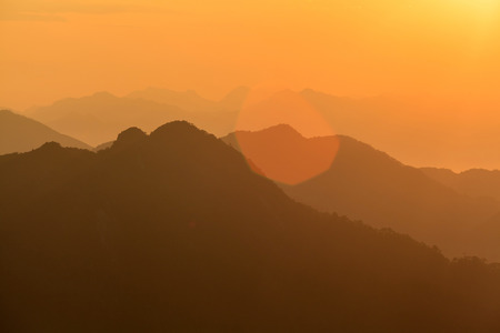 national geographic: Nature scenery view of mountain during sunset