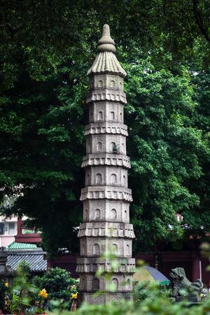 Guangzhou: stone statues at Guangzhou Guangxiao
