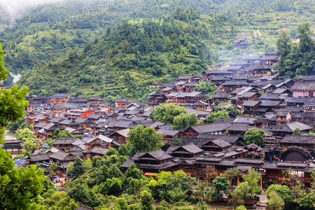 Kaili Lei Shanjiang thousands of Miao Village Фото со стока