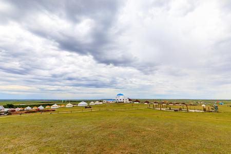 Inner Mongolia Hulunbeier Mongolia yurts Stok Fotoğraf - 96275619