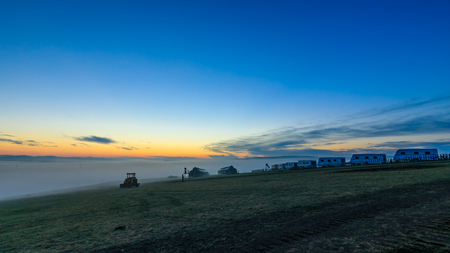 Inner Mongolia Hulunbeier Mongolian caravan camp Stock Photo