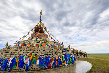 Inner Mongolia Hulunbeier Mongolian tribe obo Stok Fotoğraf