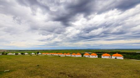 Inner Mongolia Hulunbeier Mongolian tribes yurts Stok Fotoğraf - 96283505