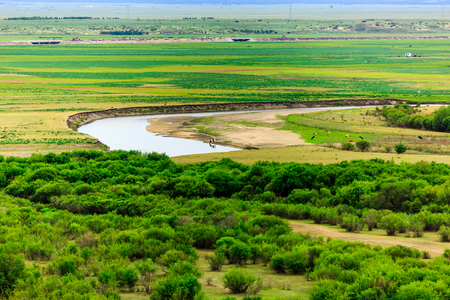 Inner Mongolia Hulunbeier wetlands Stok Fotoğraf - 96283564